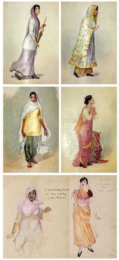 Регионална Рокля в Индия през 1920 година: