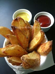 Batatas assadas que parecem fritas