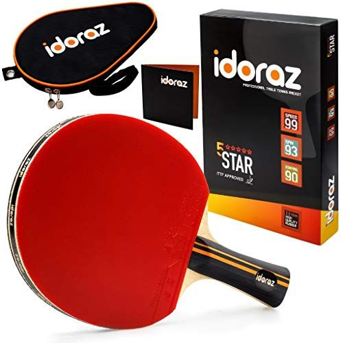 Enjoy Exclusive For Idoraz Table Tennis Paddle Professional Racket Ping Pong Racket Carrying Case Ittf Approved Rubber Tournament Play Online Fortrendyt In 2020 Ping Pong Paddles Table Tennis Ping Pong