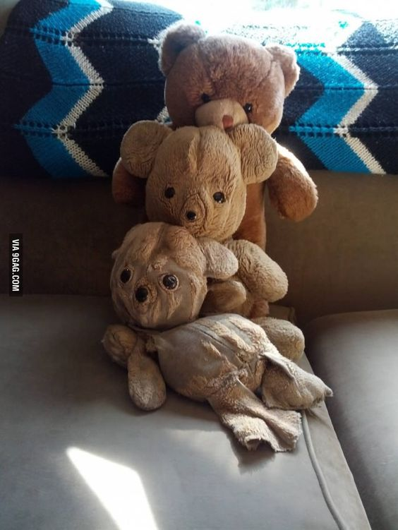 I've slept with a teddy bear for 28 years