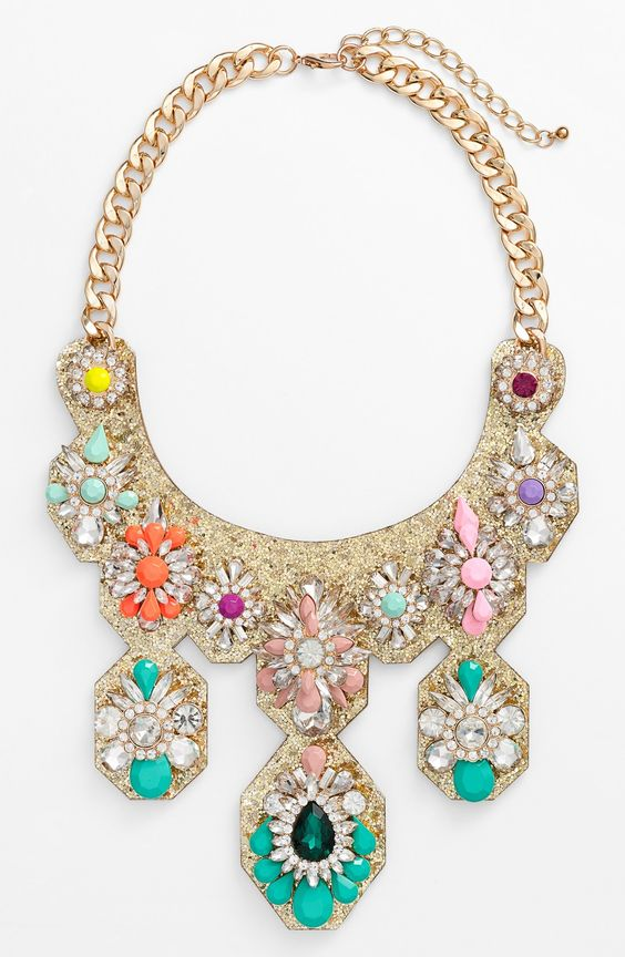 Wearing this glitter and crystal statement necklace now!