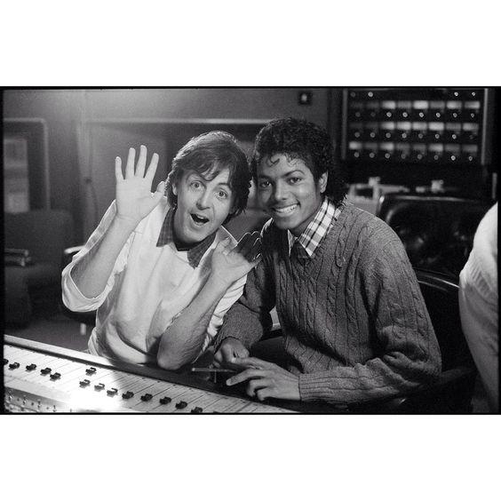 「Paul and @MichaelJackson at AIR London studios 1983. Watch the new video for #SaySaySay [2015 Remix] at PaulMcCartney.com [link in bio]…」
