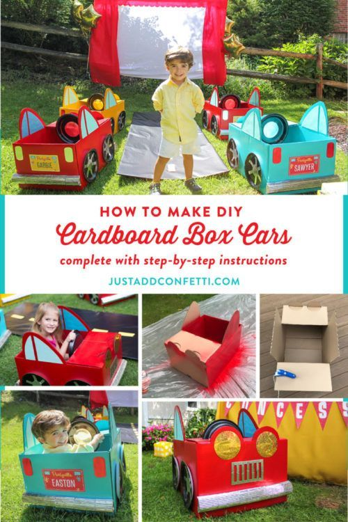 Backyard Movie Ideas Cardboard Box Car Cardboard Car Movie Night For Kids