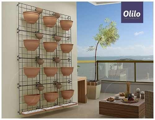 painel jardim vertical modular ferro 43x43cm - olilo