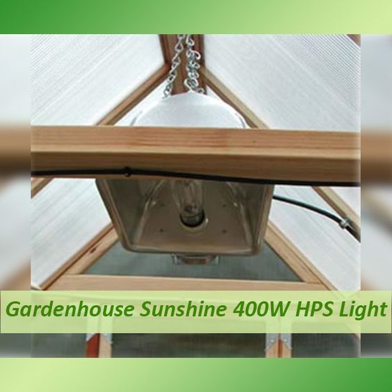 Gardenhouse Sunshine 400W HPS Light. Sunshine 400W HPS Light Whats in the box?  400W High Pressure Sodium Light 15' Detachable Lamp Cord 8' Grounded Power Cord Mounting Hardware Chain  We've put together an outstanding value in a high performance 400W high pressure sodium kit that will effectively light a 4′ x 4′ area.  Kit includes a hydro-formed reflector that is the best performer of any reflector we've seen, as well as a rugged ballast housed in die cast aluminum with...