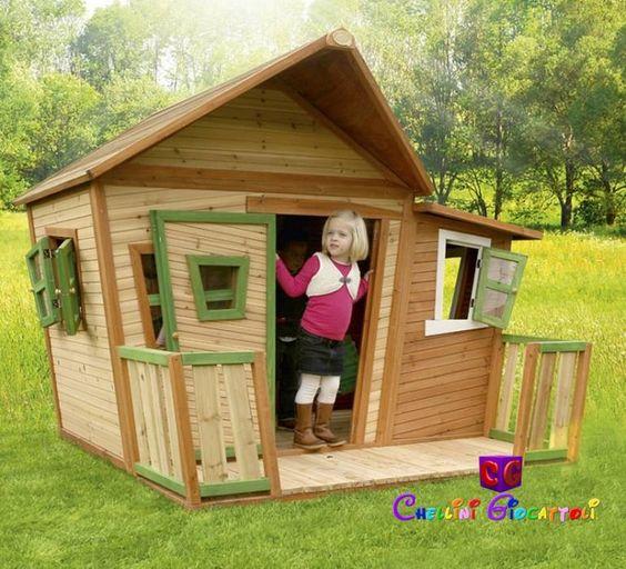 Non solo una casetta, ma una vera e propria villetta da giardino ...
