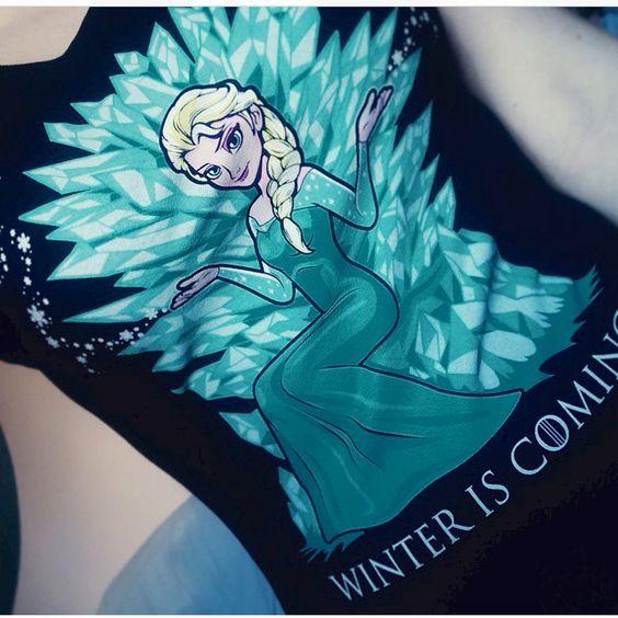 Disney, Elsa, Frozen, GOT, Game of Thrones, Winter is Coming
