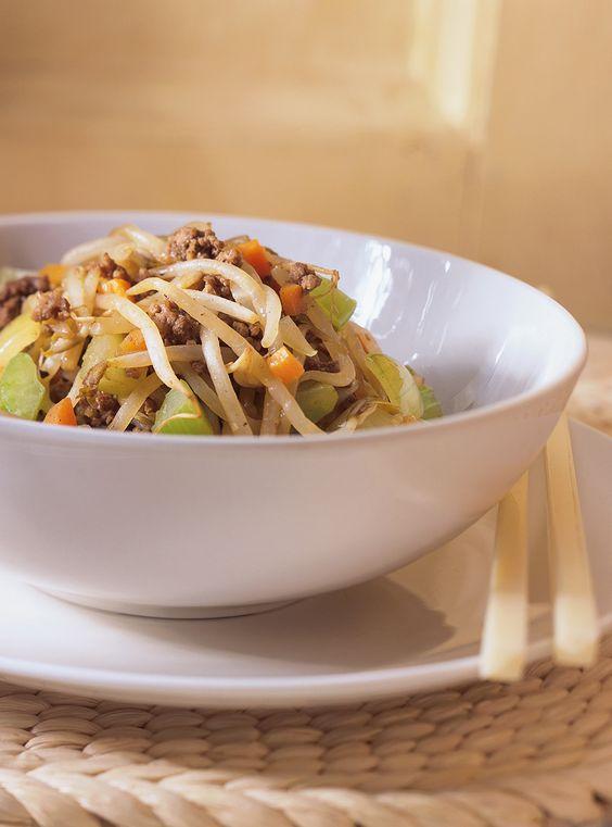 Recette de Ricardo de chop soui.  Ce plat typiquement asiatique au boeuf se cuisine très rapidement et est excellent pour la santé.
