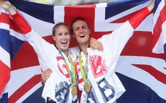 Helen Glover (left) and Heather Stanning