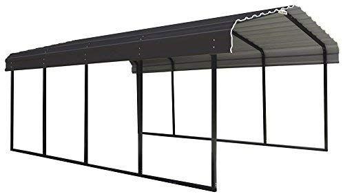 Amazon Com Arrow 12 X 20 X 7 Foot Heavy Duty Galvanized Steel Metal Multi Use Shelter Shade Carport 12 X 20 X 7 Steel Carports Carport Galvanized Steel