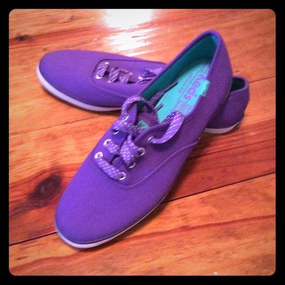 New  Purple Keds Size 6.5   New Purple Keds Size 6.5 without Box fits more like a size 7. Trade value 30.00 keds Shoes