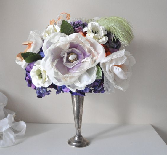 Bouquet Paper flower fabric flower THE MILLY by AlternativeBlooms. $214.00, via Etsy.