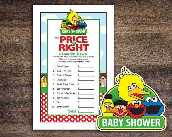 Instant Download Sesame Street Baby Shower The by Studio20Designs, $2.00