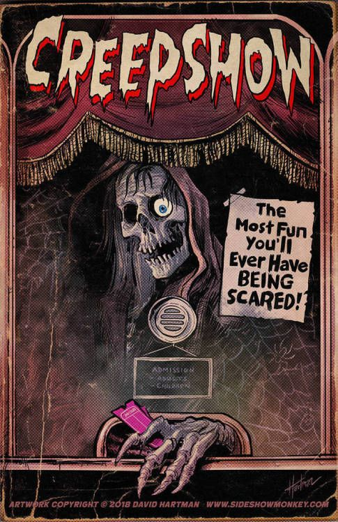 Creepshow Poster By Sideshowmonkey Vintage Horror Horror Posters Retro Horror