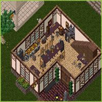 A decorated 2 story villa on the Ultima Online Renaissance