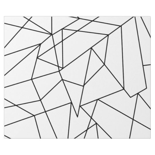 Simple Modern Black And White Geometric Pattern Wrapping Paper Zazzle Com Geometric Artwork Geometric Pattern Modern Pattern Geometric