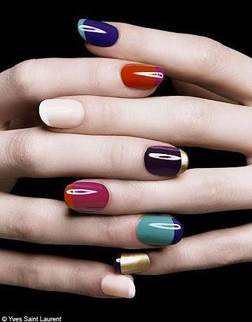 Hot Nail Trends for 2013: jewel-toned french manicure