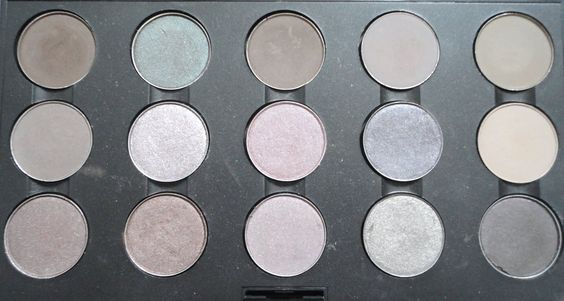 Mac taupes, jellymix. Second row #1 French grey, and #4 moth Brown.