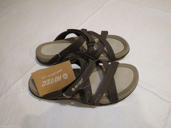 Womens Hi-TEC hitech sandals flip flops inspired by life MDT flex cushioned 8  #HiTec #sandals