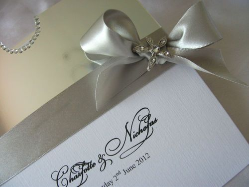 Handmade couture Glamour Wedding invitation
