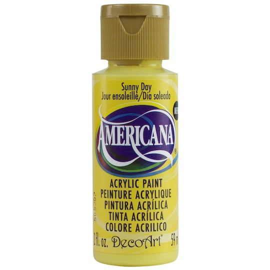 Americana Acrylic Paint 2 Oz In Sunny Day 6 Pack Michaels