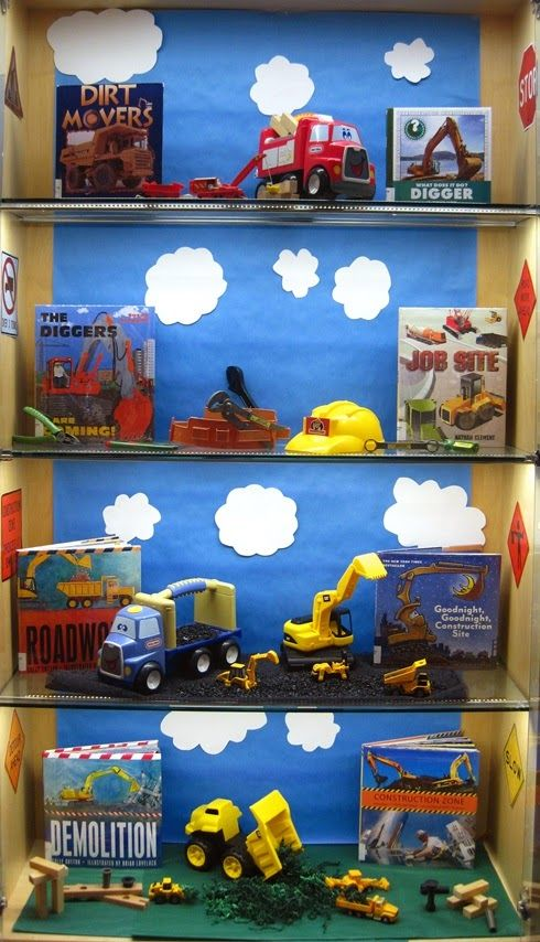 Construction Zone | Library Book Display: