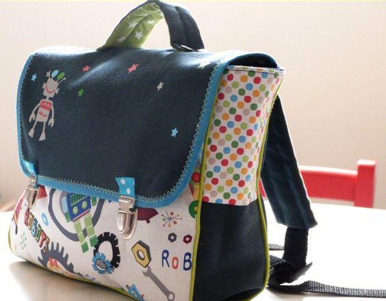 Mon jardin couture: Cartable maternelle