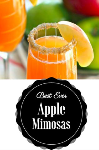 Apple Cider Mimosas - Southern Sisters Home