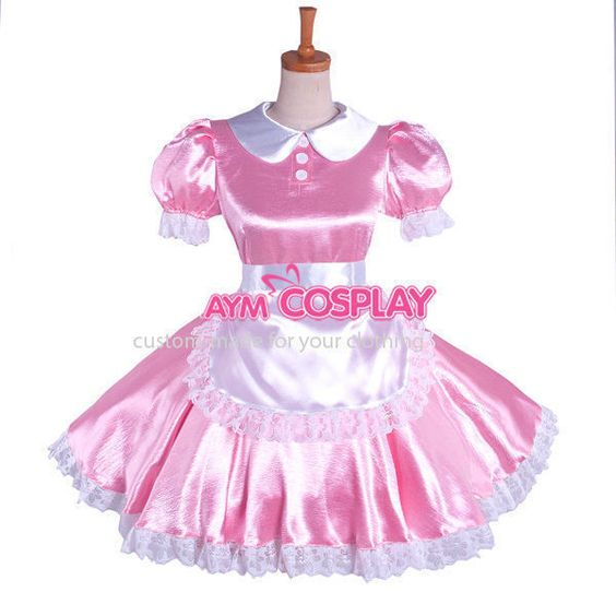 sissy Maid Satin Dress Uniform G1085 Tailor-made in Clothes, Shoes & Accessories, Women's Clothing, Dresses | eBay