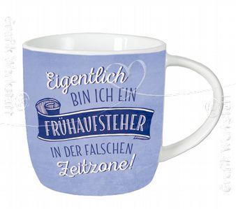 Frühaufsteher - Kaffeetasse - Grafik Werkstatt Bielefeld
