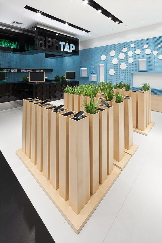 Nice way to display small products - AER store by COORDINATION - bambus mobel design siam kollektion sicis bilder