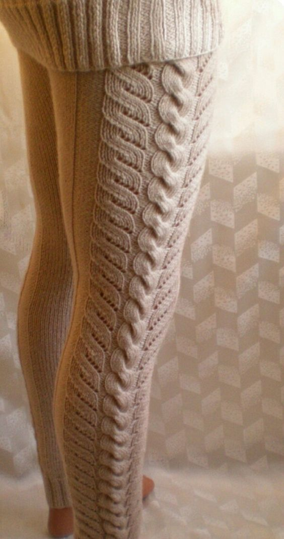 Knitting Pattern For Leggings : Jambieres, Tricots and Cable on Pinterest