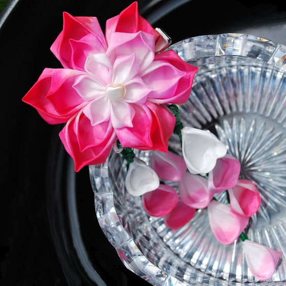 Pink Water LilyCustom Kanzashi by hanatsukuri on DeviantArt