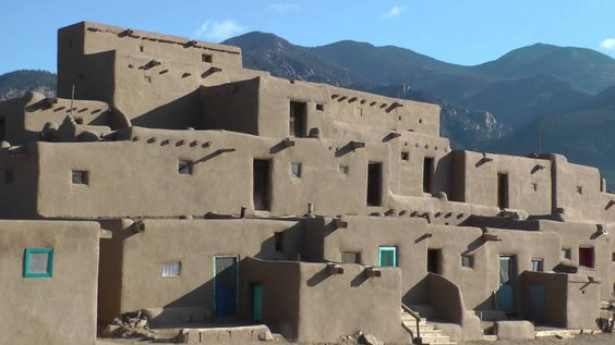 Video of Adobe Churches on the High Road to Taos & Taos Pueblo, New Mexico, USA