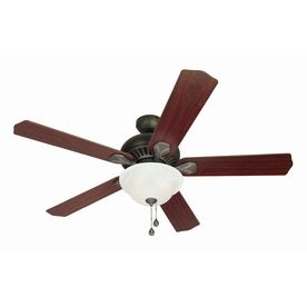 """Just discovered that ceiling fans are actually pretty inexpensive.... add this to the list of things I'll soon be buying for the kitchen!!!! -- Harbor Breeze 52"""" Crosswinds Oil-Rubbed Bronze Ceiling Fan"""