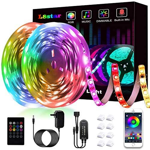 Led Strip Lights L8star Led Lights Smart Color Changing Rope Lights 32 8ft 10m Smd 5050 Rgb Light In 2020 Led Strip Lighting Color Changing Rope Lights Strip Lighting