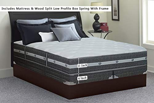 Buy Mattress Solution 11 Inch Fully Assembled Soft Orthopedic Mattress 4 Split Box Foundation Set Frame Spring Air Colletion California King Size Online In 2020 Pillow Top Mattress Mattress Euro Top Mattress