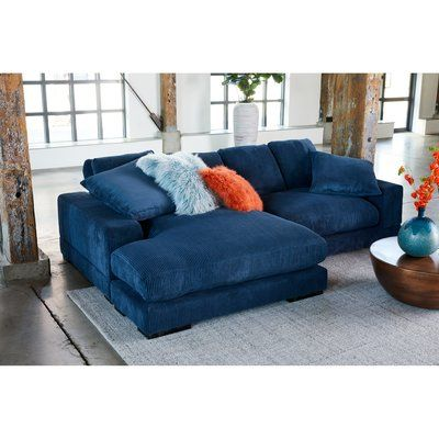 Mistana Blaze Reversible Sectional Upholstery Blue With Images