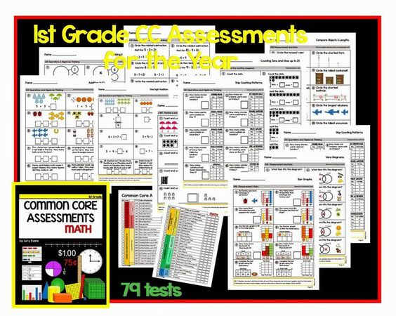 Common Core  Math Assessments for each standard
