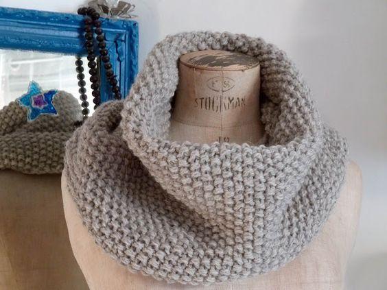 Mes favoris tricot crochet mod le gratuit maxi col au point de riz laine pinterest - Modele de point au tricot ...