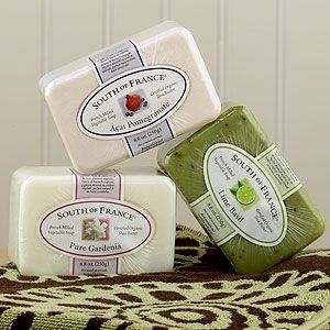 South of France soap  My favorites are Citrus Mint and Gardenia