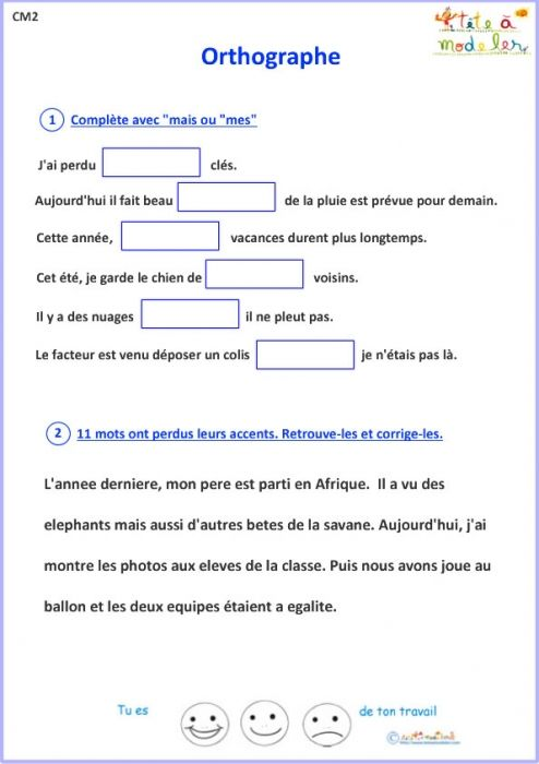 Resultat De Recherche D Images Pour Exercices De Francais Pour Cm2 A Imprimer Exercice Francais Cm2 Exercice