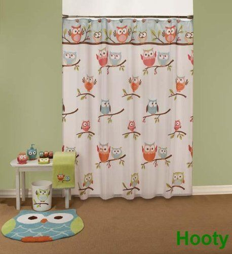 Hooty Owl Shower Curtain Hooks by Saturday Knight Ltd., http://www ...