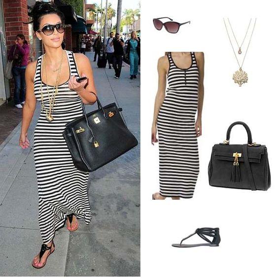 Tank maxi dresses- Striped maxi dresses and Maxis on Pinterest