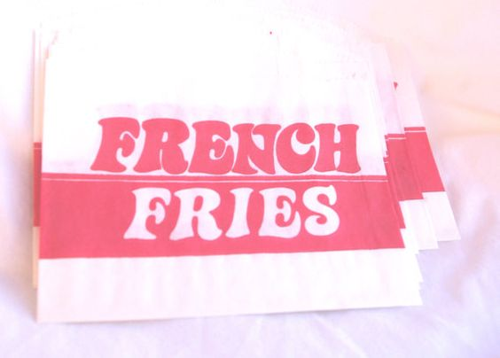 RETRO red French Fries Bags--50 CT---Birthday Parties--Sports theme--circus--Baseball--Cookout--50ct by Pink Lemonade Party Shop | Catch My Party