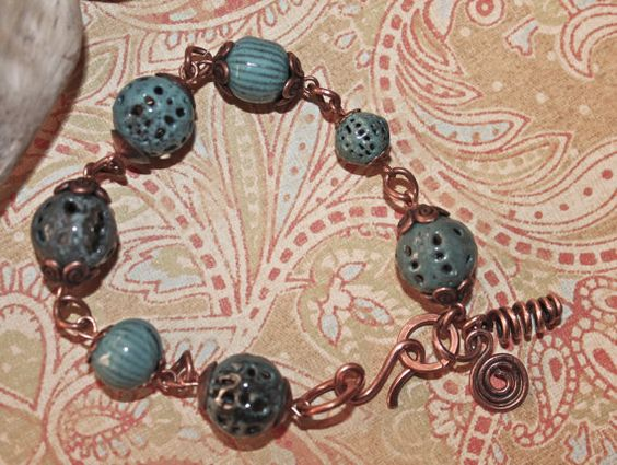 Rustic Turquoise  Torch Fired Enamel Bead  by artisticmoodswings, $17.00