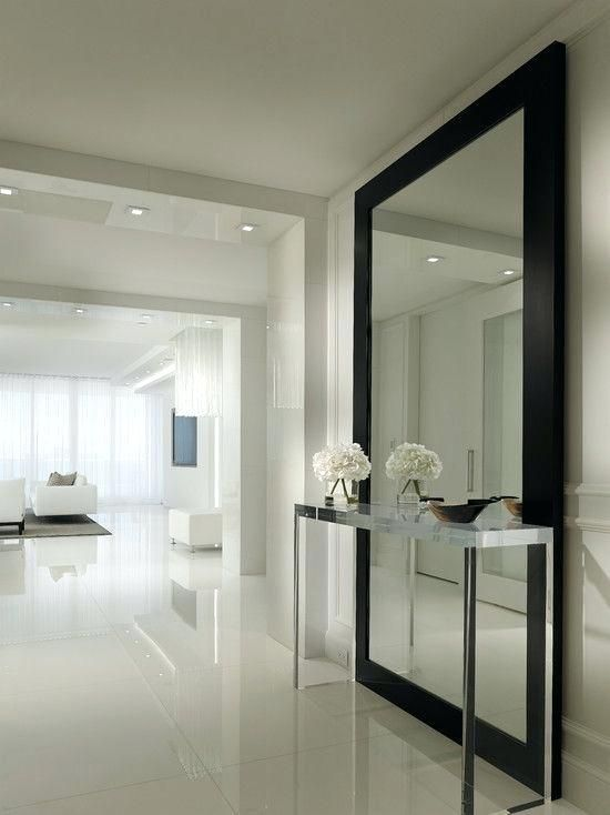 Mirrors For Walls Contemporary Hallway