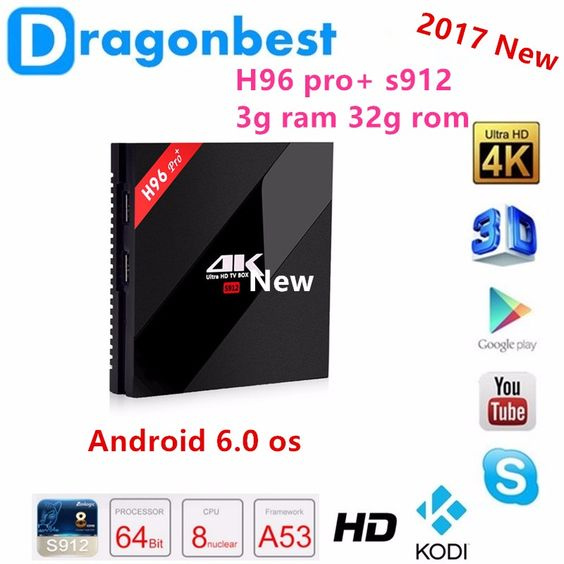 full hd video download H96 pro+ s912 3g 32g android tv box download app google play store