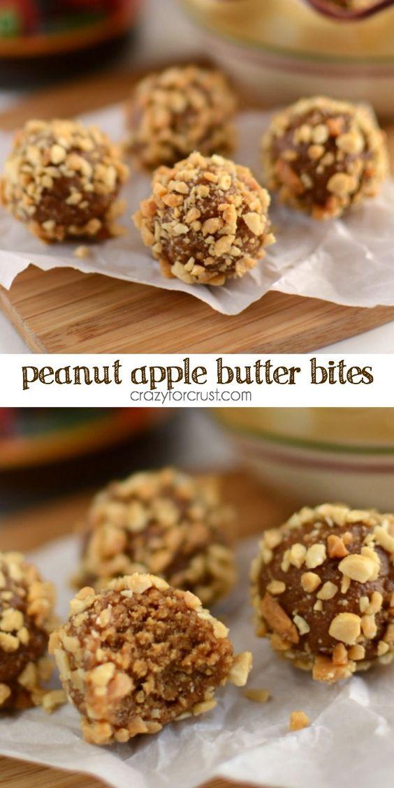 peanut apple butter bites - a healthier snack full of flavor!