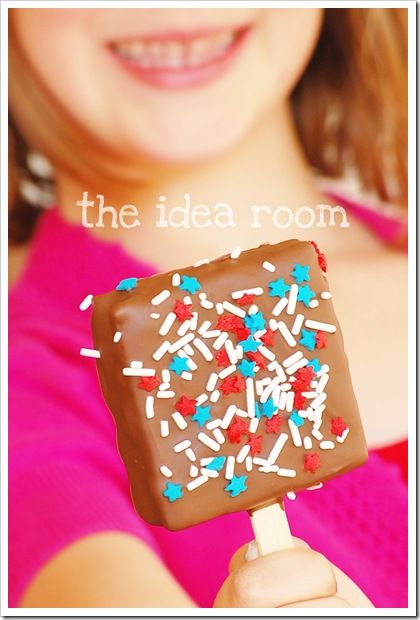 we are so making these! {DONE. The chocolate on ours wasn't quite so perfectly smooth, but I let my 2 year old help and it was a MESS of fun!!!}: